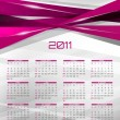Vector abstract calendar, design template for 2011 — Stock Vector