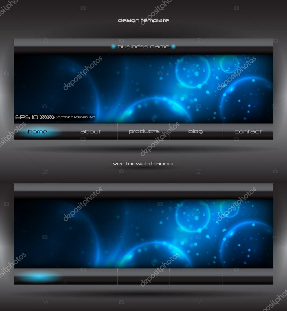 Vector abstract web banner — Stock Vector #4181618