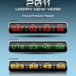 Vector countdown timer — Stockvectorbeeld
