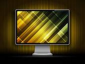 Vector digital LCD monitor — Stock Vector