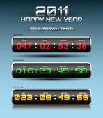 Vektor-countdown-timer — Stockvektor