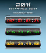 Vector countdown timer — Stock Vector