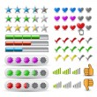 Vector set rating icon - Stock Vector