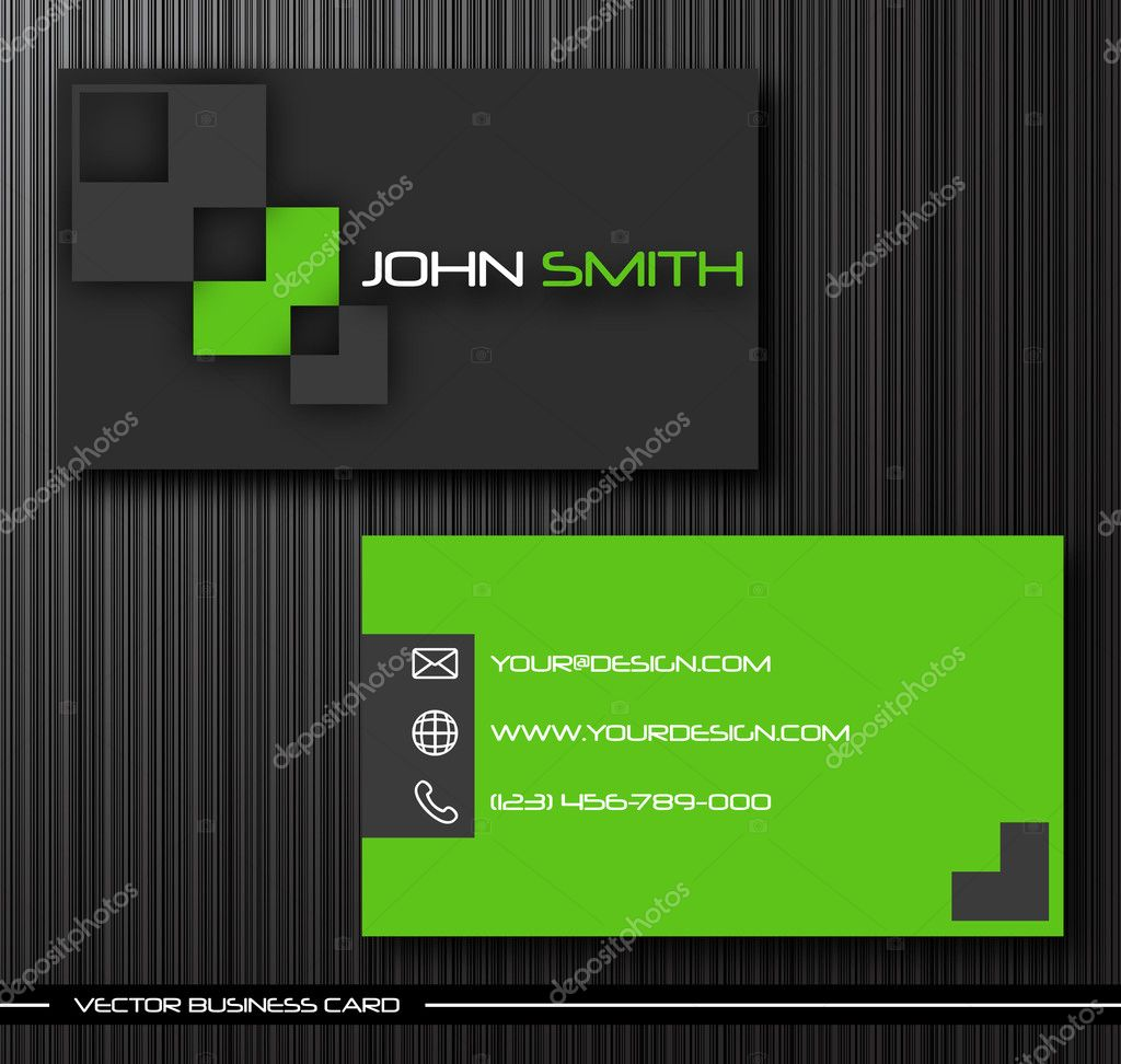 Vector abstract creative business cards (set template) — Stock Vector #4435044