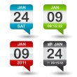 Vector calendar icon - Stockvectorbeeld