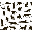 gatos silhoettes — Vector de stock  #4053730