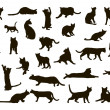 Royalty-Free Stock Vector Image: Cats silhoettes