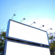 Blank billboards crete — Stock Photo
