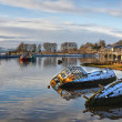 Bowling harbour panorama 01 — Stock Photo