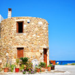 Greek round house — Stock Photo