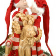 Stock Photo: Santa lovers