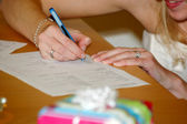 Signing the wedding contract — Stock Photo