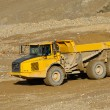 Yellow mining dump truck - Stock Photo