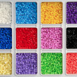 Toy pearls in many colors — Stockfoto