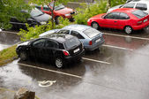 Cars on a rainy day — Stock Photo