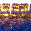 Blue and Gold Ice — Stock Photo