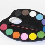 Water Colour Paint Palette — Stock Photo #4990439