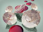 血のダイヤモンド — ストック写真