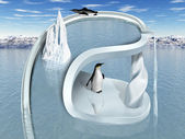 Surreal Penguin Wonderland — Stock Photo