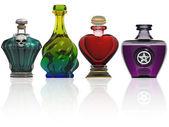 Kolekcja eliksir butelek — Zdjęcie stockowe