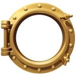 Isolated porthole — Stock Photo