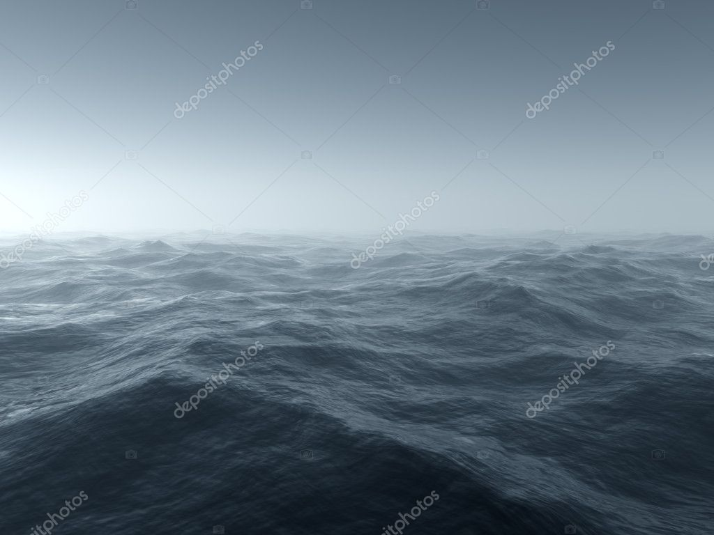 Illustration of a bleak and cold stormy seascape — Stock Photo #4513454
