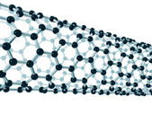 Detail of a carbon nanotube — Stock Photo