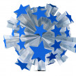 Explosion of blue stars — Stock Photo #4920211
