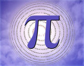 Pi over sky — Stock Photo