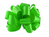 Green paper bow — Stock Photo