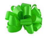 グリーン ペーパーの弓 — ストック写真