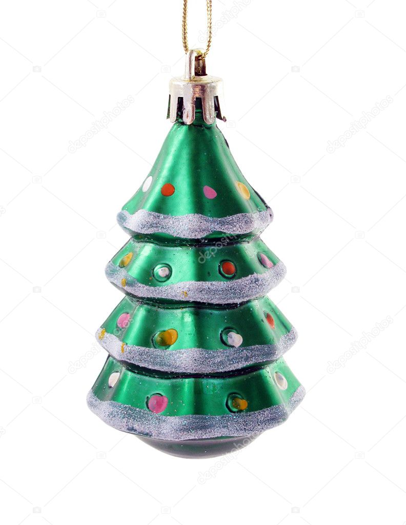 Christmas tree decoration: christmas tree isolated on white                                  — Stock Photo #4586851