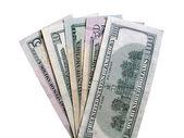 Fan-shaped dollars — Stock Photo