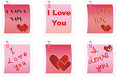 I Love You notes — Stock Photo