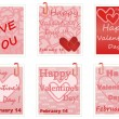 Stock Vector: Valentines Day notes