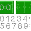 Football score — Image vectorielle