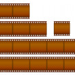 Stock Vector: Set of filmstrips