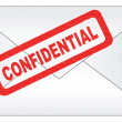 Stock Vector: Confidential letter
