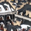 Roofs under snow — Stock Photo