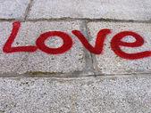 Amour de l'inscription — Photo