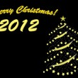 merry christmas 2012 — Stockvector #5368342