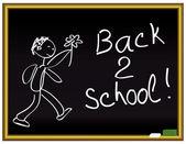 Tillbaka 2 skolan — Stockvektor