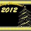 Vector de stock : Merry christmas 2012