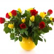 Bouquet red and yellow roses — Stock Photo #3963869