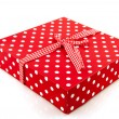 Stock Photo: Red dotted presents