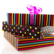Stock Photo: Stacked gifts