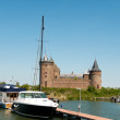 Castle with harbor - Foto de Stock  