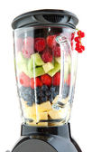 Fruit in the blender — Stock Photo
