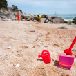 Toys at the beach - Stock Photo