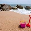 Stock Photo: Toys at the beach